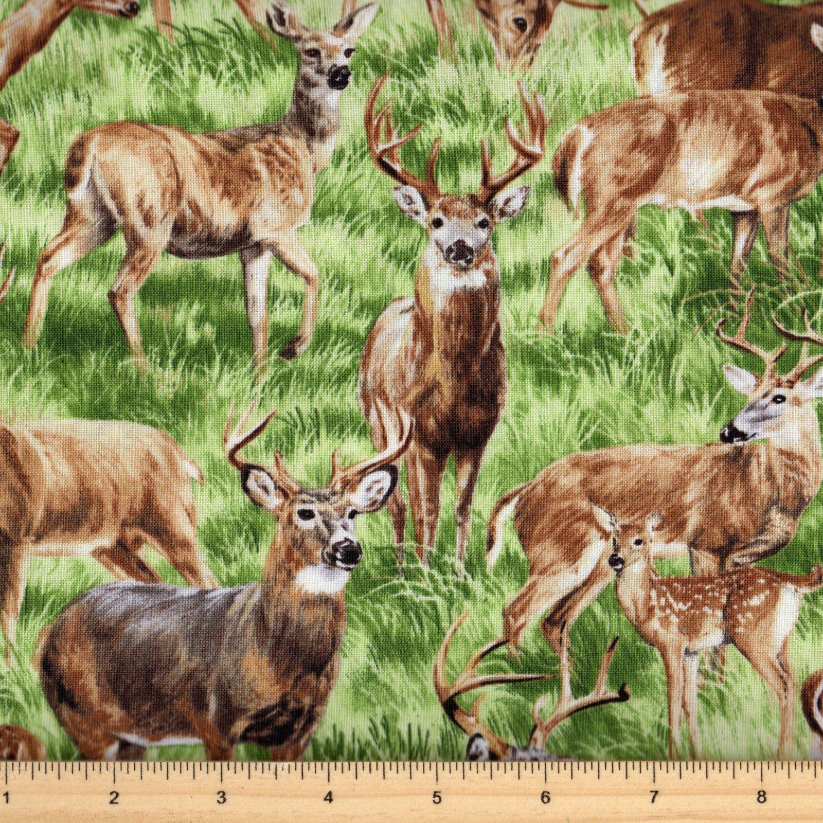Fabri Quilt American Wildlife Deer 112-29461