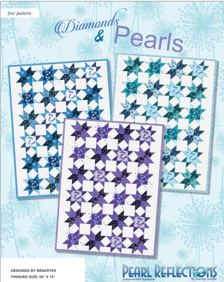 Free Pattern:  Diamonds & Pearls - for Pearl Reflections by Benartex