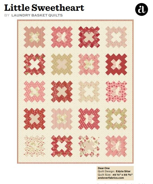 Free Pattern: Little Sweetheart by Laundry Basket Quilts for Andover