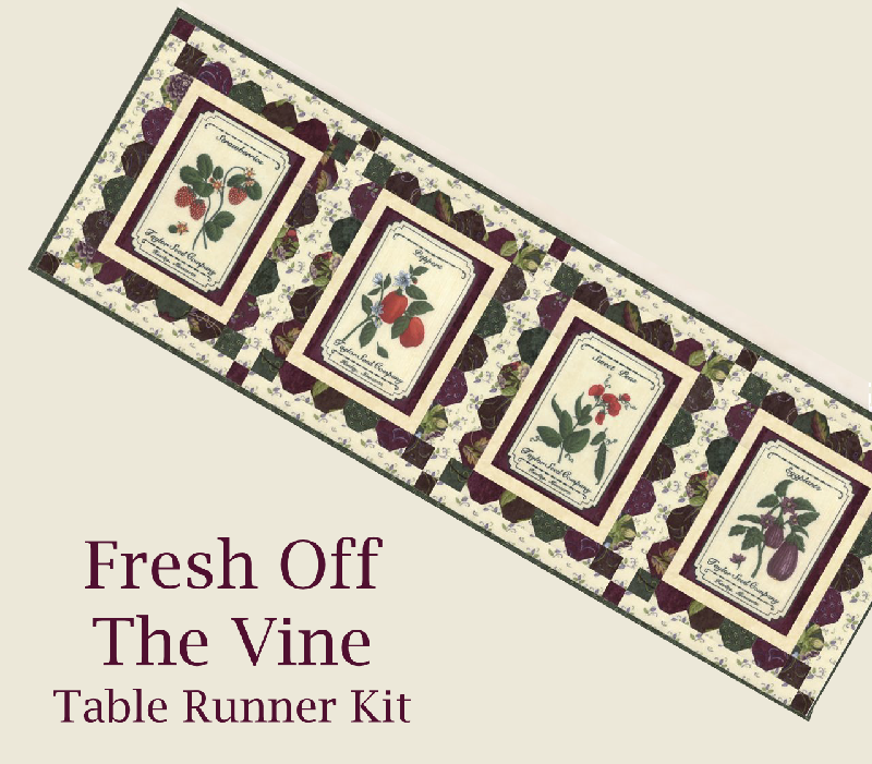 Table Runner Kit: Fresh Off The Vine / Postcards by Doug Leko