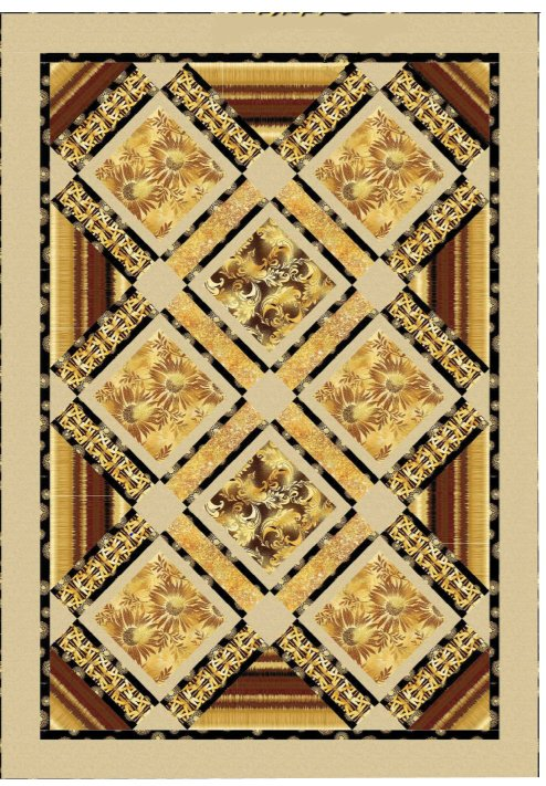 Free Pattern:  Kanvas Sun Valley Fabrics - GOLDEN VALLEY quilt