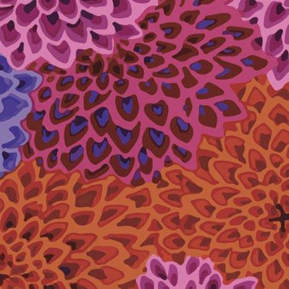Kaffe Fassett - GP54 LUSH - Dahlia Blooms - Lush