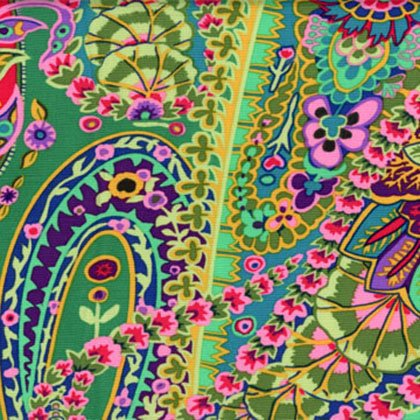 Kaffe Fassett - GP60 GREEN - Paisley Jungle - Green