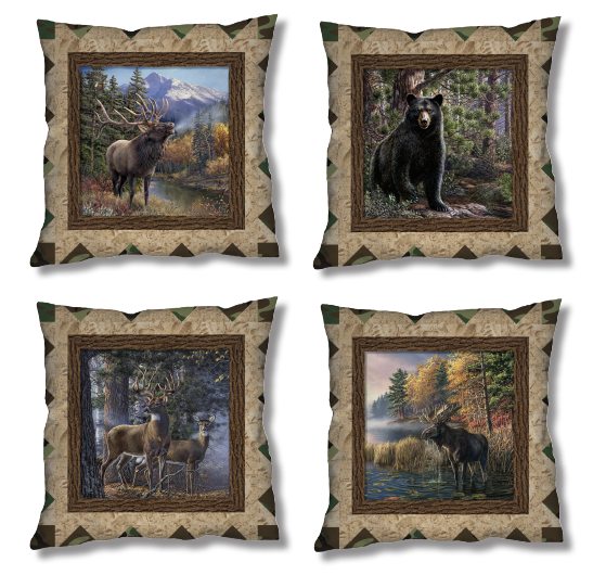 Free Pattern:  Scenic Pillows - The Great Outdoors by Windham Fabrics
