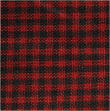 Dunroven House - Homespun H63 Red Black - Mini Check