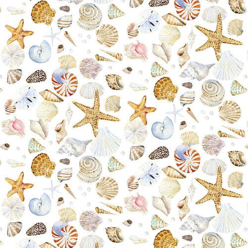 Henry Glass - Coastal Paradise | 1505-14 Sea Shells - White