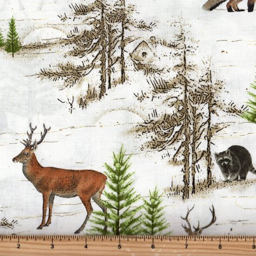 Henry Glass - Moose Lodge 6622 44 Pine Trees and Forest Animals