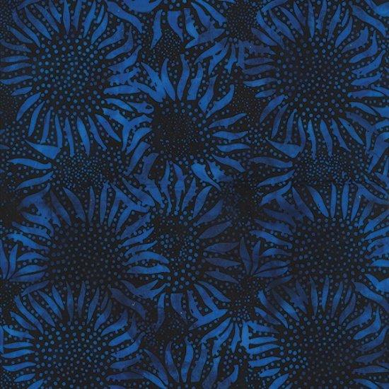 Hoffman Bali Batik 884-17 Bali Chop Sunflower: Cobalt