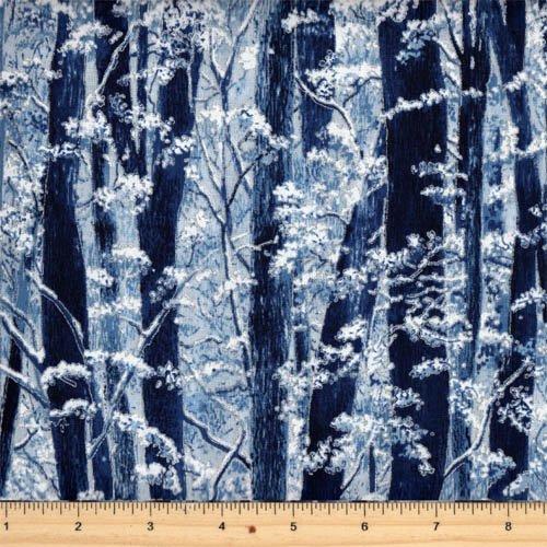Hoffman Fabrics - Snow Festival K7200-113S Frost/Silver
