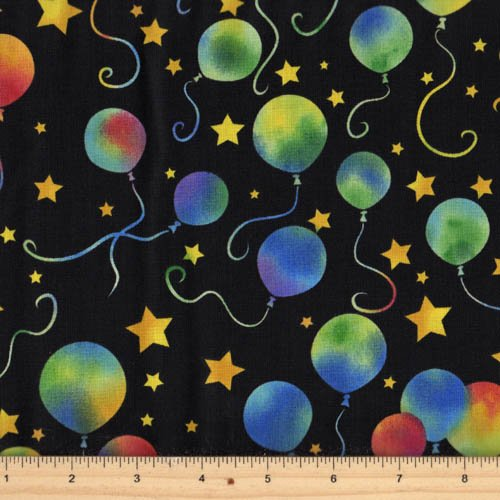 Hoffman Fabrics - Party On M4212-4 Black