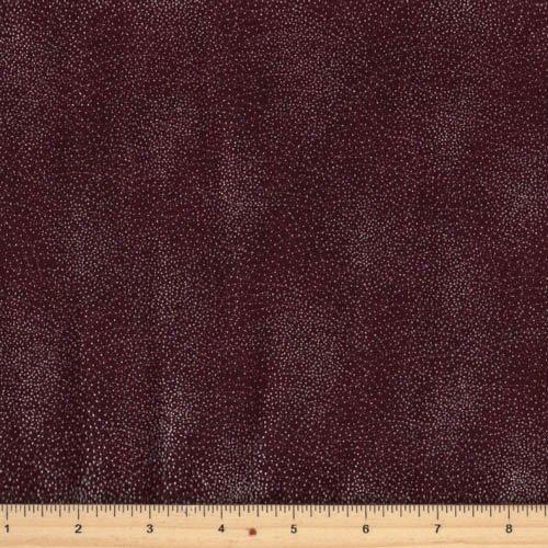 Hoffman Fabrics - Yuki M7437-38S Burgundy/Silver