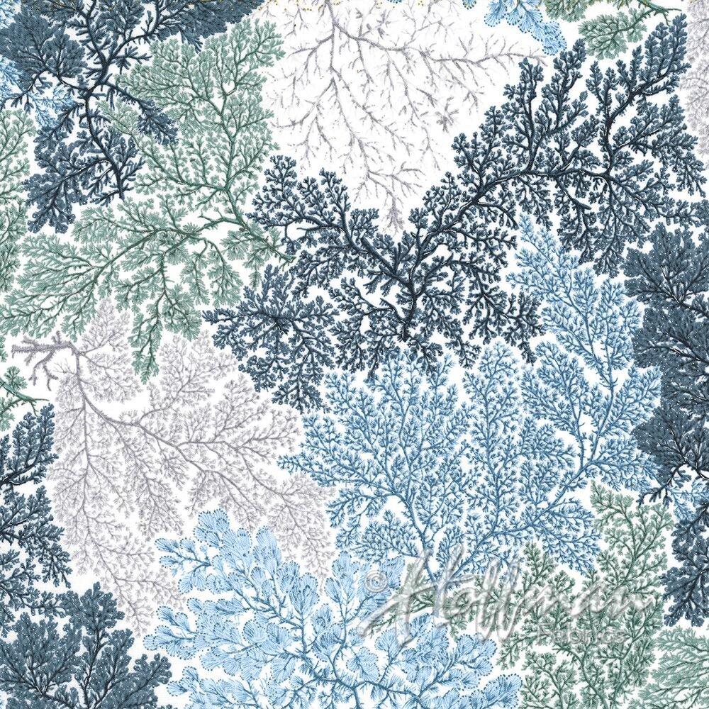 Hoffman Coastal Drift P7624-522S Seagrass/ Silver Corals