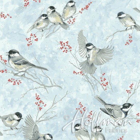 Hoffman Baby Its Cold Outside - Cardinal Ice Blue/Silver Q7646-190S