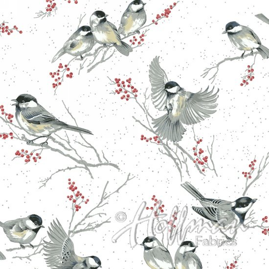 Hoffman Baby Its Cold Outside - Cardinal White/Silver Q7646-3S