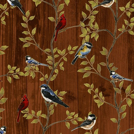 Hoffman | Harvest Homecoming R7687-407G Bark/Gold Birds Branches