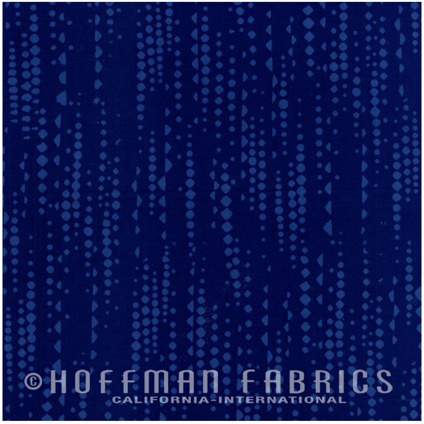 Hoffman Batik 105-169 Prussian Mini Geo