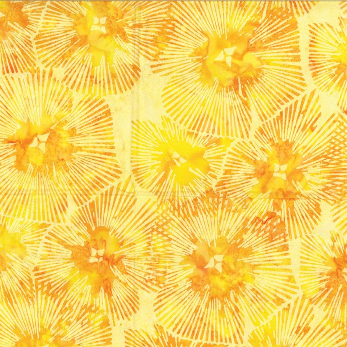 Hoffman Bali Batik R2282-149 Abstract Floral Sun