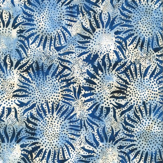 Hoffman Bali Batik 884-243 Bali Chop Sunflower: Delft