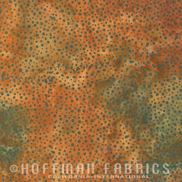 Hoffman Batik Dots 885 172 Copper
