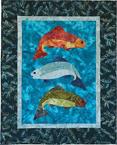Fish Tales -  Batik Fabric Pack + Pattern - Create a Fish Wall Hanging