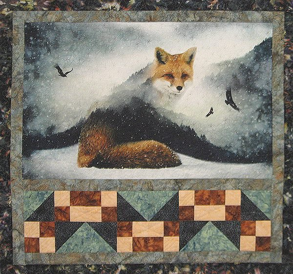 Free Pattern:  Hoffman Digital Prints:  Fox and Tracks