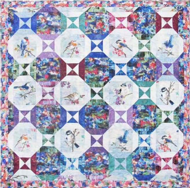 Free Pattern:  Portrait Gallery for use with PAINT IMPRESSIONS fabric by Hoffman