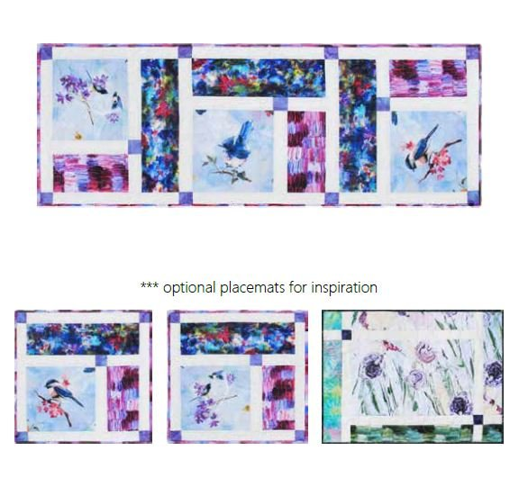 Free Pattern:  Abby's Gift Table Runner & Placemats for use with PAINT IMPRESSIONS fabric by Hoffman
