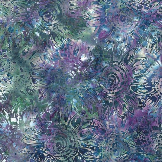 Hoffman Bali Batik MR1-589 Sunflowers by McKenna Ryan