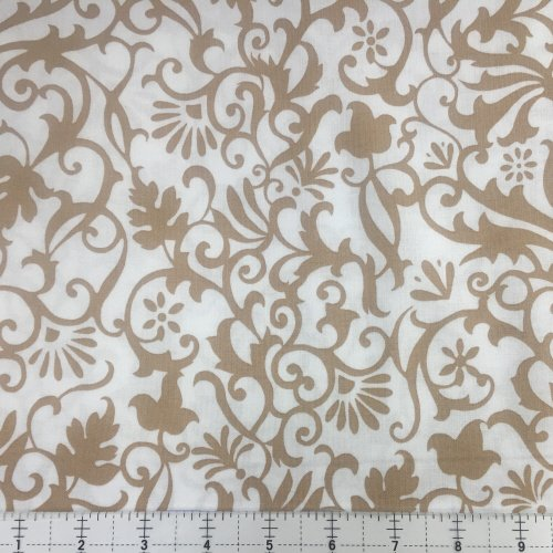Hoffman Near and Deer Tan 4261-64 Elegant Scroll