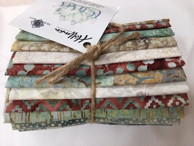McKenna Ryan FQ-100 ADOBE- Oasis Batik Fat Quarter Pack - 12 Fat Quarters