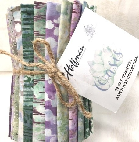 McKenna Ryan FQ-91 AMETHYST - Oasis Batik Fat Quarter Pack - 12 Fat Quarters