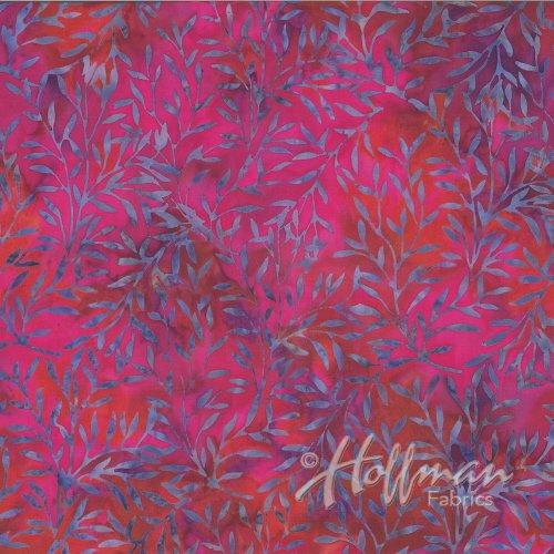 Hoffman Bali Batik P2006-396 - Sprigs Maraschino Cherry