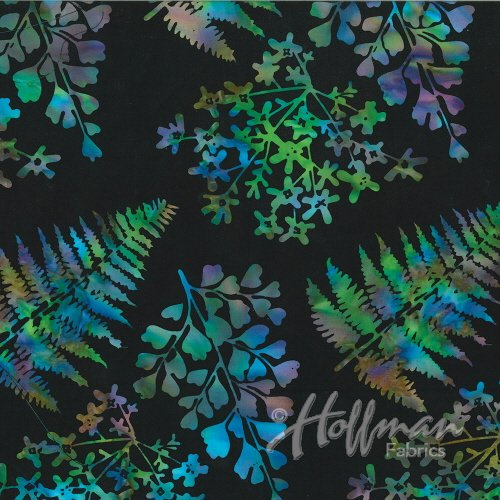 Hoffman Bali Batik P2014-657 Mixed Leaves Spectrum