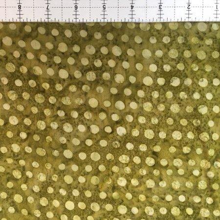 Hoffman Bali Batik RAYON 2954-291 Polka Dots Olivia Green