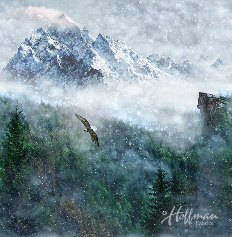 Hoffman CALL OF THE WILD - EAGLE Digital Print PANEL | Aspen P4359-367