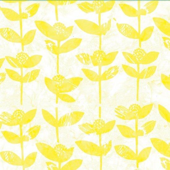 Hoffman Bali Batik: R2241-232 Block Flower Citrine