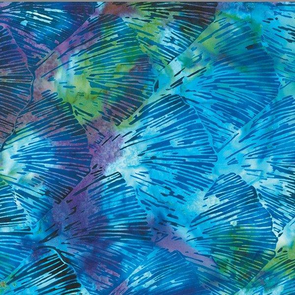 Hoffman Bali Batik - Shoreline S2357 692 Scallop Ocean Aquatic