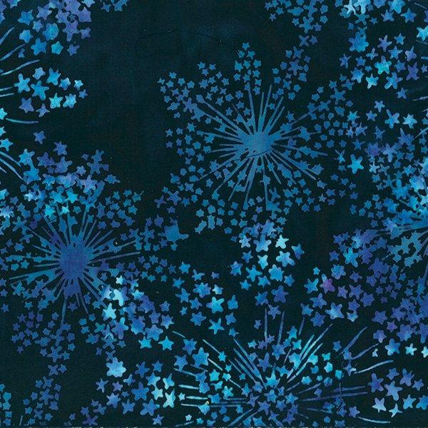 Hoffman Bali Batik S2364 682 Dandelion Deep Blue