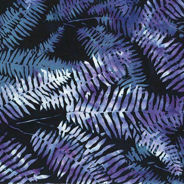 Hoffman Bali Batik S2373 197 Ferns Black Grape - Frozen In Time
