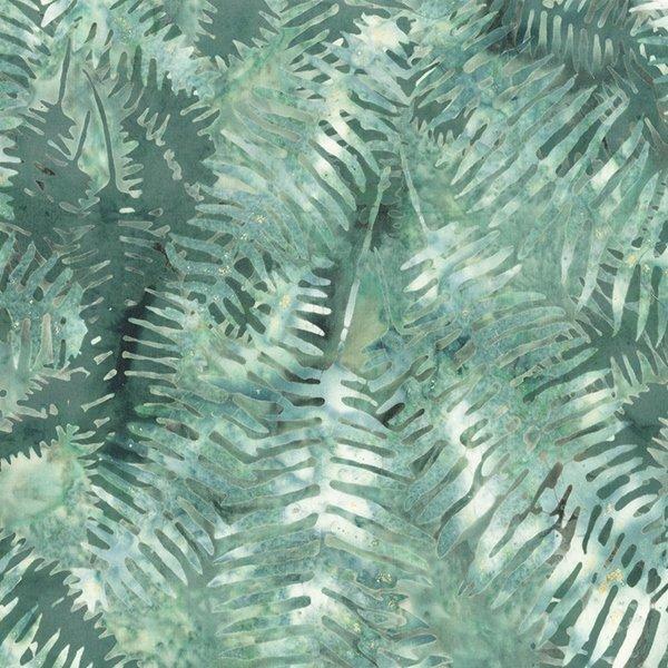 Hoffman Bali Batik S2373 476 Ferns Juniper - Shoreline
