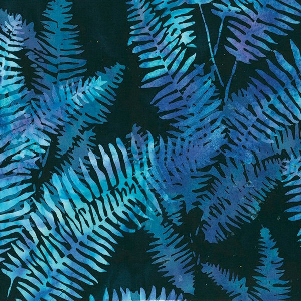 Hoffman Bali Batik S2373 585 Ferns Galaxy - Frozen In Time