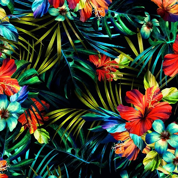 Hoffman - Meet Me In Paradise S4819 519 Hibiscus Tropical Digital