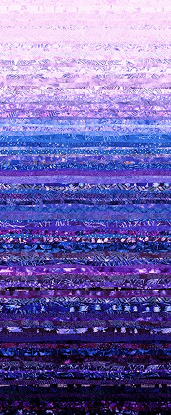 Hoffman Waves S4831 229 Wisteria - Digital Spectrum Print