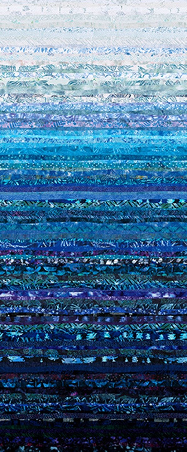 Hoffman Waves S4831 301 Bluebird - Digital Spectrum Print