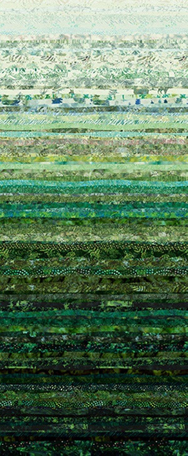 Hoffman Waves S4831 60 Hunter - Digital Spectrum Print