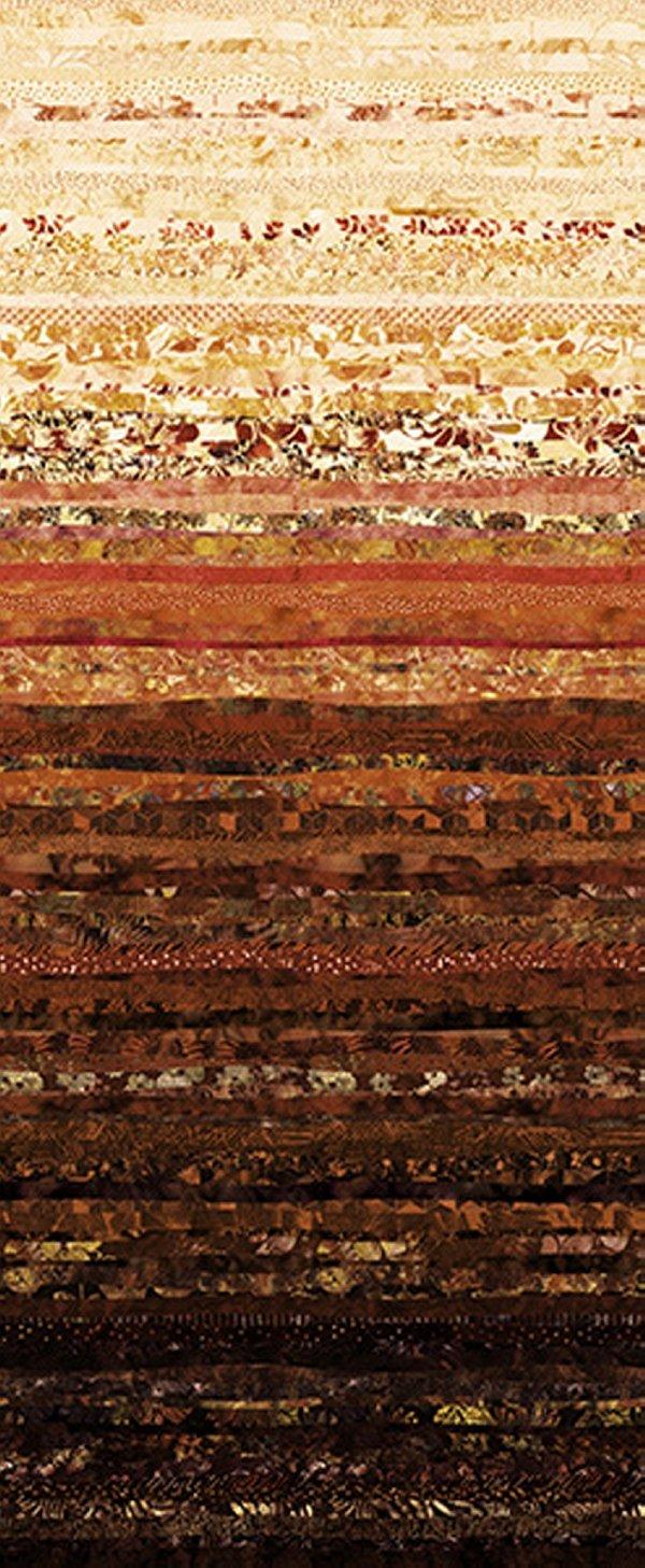 Hoffman Waves S4831 610 Cappucino Digital Spectrum Print