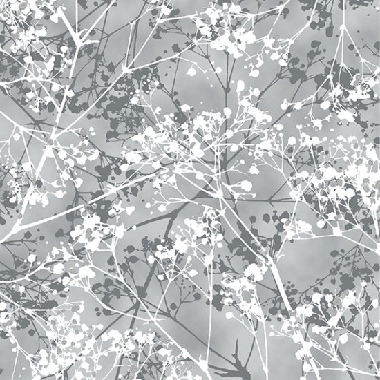 Hoffman First Snowfall S7716 76S Pewter Silver Branches