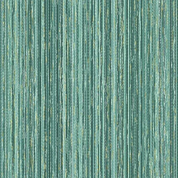 Hoffman | Home Sweet Home T7759 436G Eucalyptus/ Gold Stripe Texture w/Gold Metallic