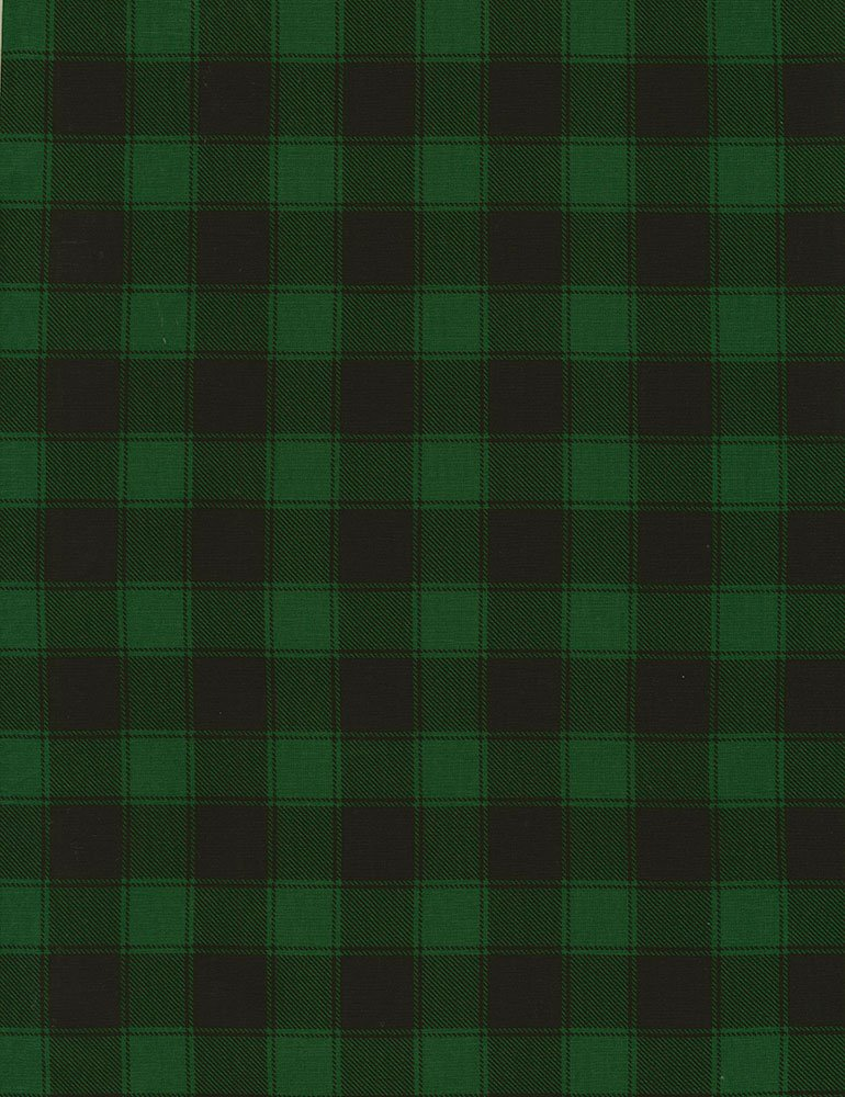 Timeless Treasures Holiday-C5784 Green- Buffalo Check