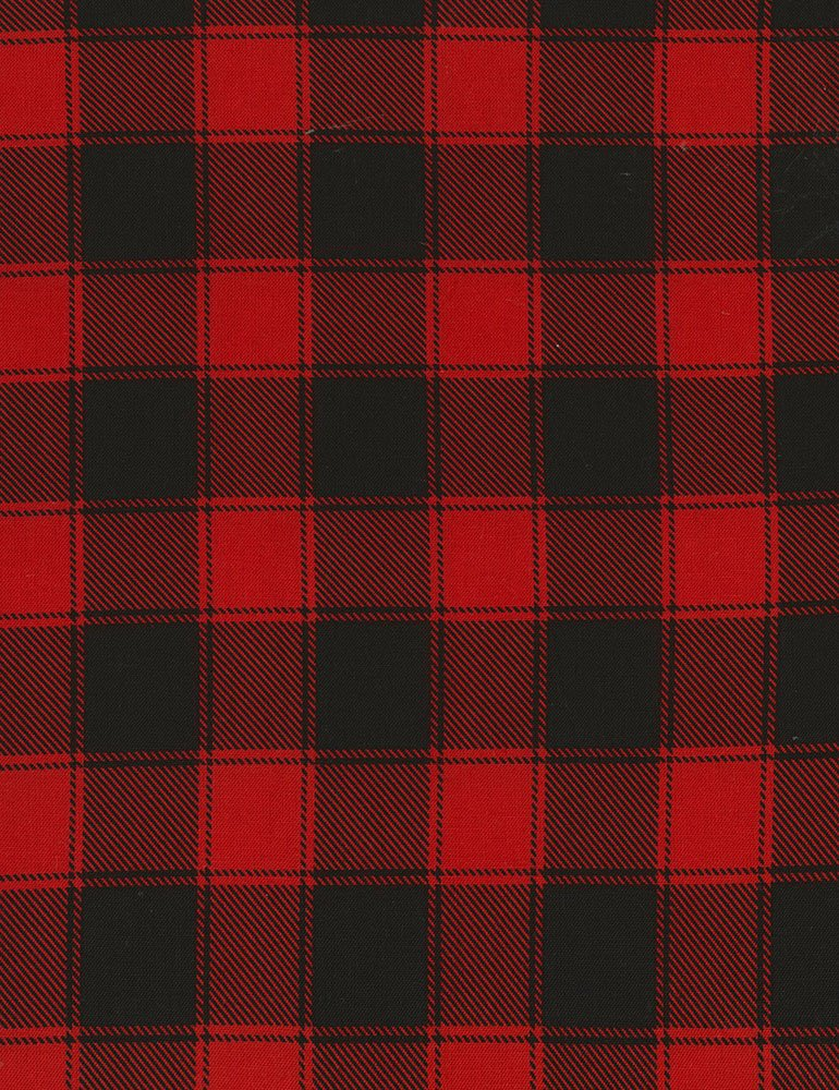 Timeless Treasures Holiday-C5784 Red - Buffalo Check